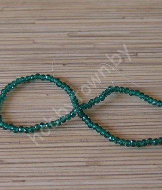 businyi-steklyannyie-rondelle-4-mm-tsv-izumrudnyiy-101