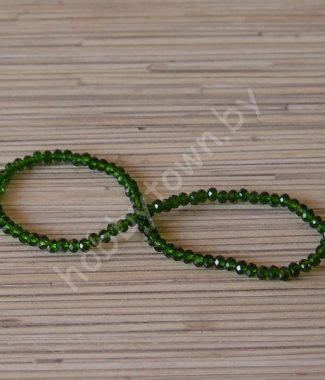 businyi-steklyannyie-rondelle-4-mm-tsv-zelyonyiy-104
