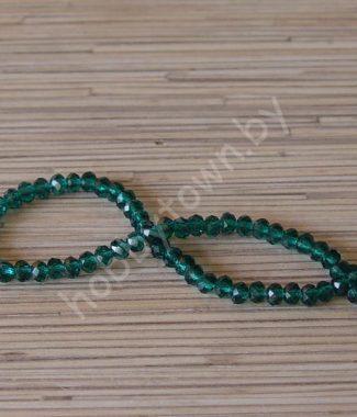 businyi-steklyannyie-rondelle-6-mm-tsv-izumrudnyiy-101